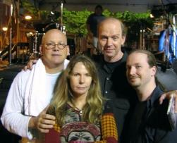 Don Dixon, Marti Jones, John Jennings, and Chris Garges after a gig in Baltimore, MD